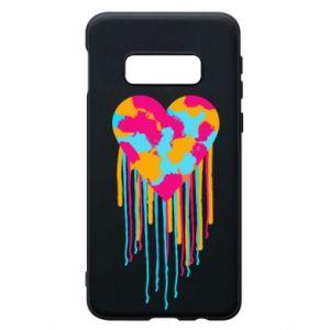 Etui na Samsung S10e Kolorowe serce
