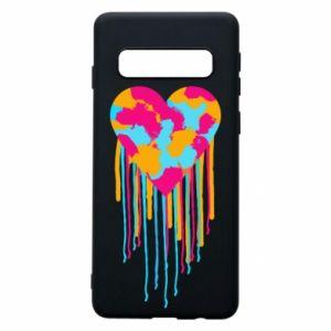 Etui na Samsung S10 Kolorowe serce