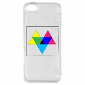 Etui na iPhone 5/5S/SE Kolorowe trójkąty