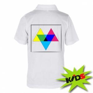 Dziecięca koszulka polo Kolorowe trójkąty