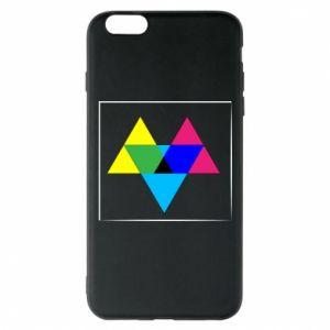 Etui na iPhone 6 Plus/6S Plus Kolorowe trójkąty