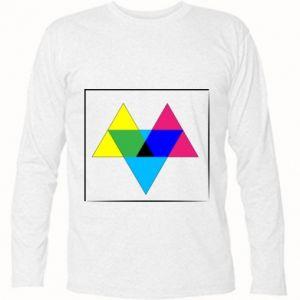 Koszulka z długim rękawem Kolorowe trójkąty