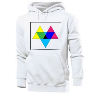 Men's hoodie Colored triangles