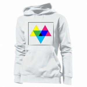 Damska bluza Kolorowe trójkąty