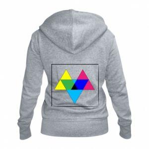Damska bluza na zamek Kolorowe trójkąty
