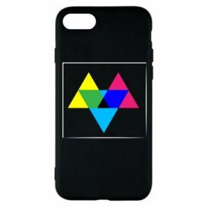 Etui na iPhone 8 Kolorowe trójkąty