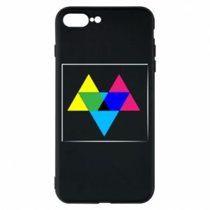Etui na iPhone 8 Plus Kolorowe trójkąty