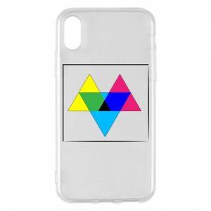 Etui na iPhone X/Xs Kolorowe trójkąty