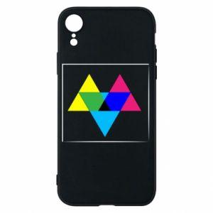 Etui na iPhone XR Kolorowe trójkąty