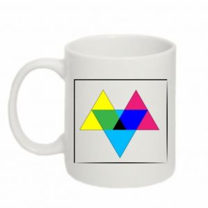 Mug 330ml Colored triangles
