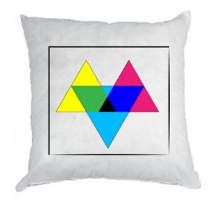 Poduszka Kolorowe trójkąty