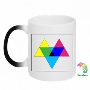Kubek-kameleon Kolorowe trójkąty