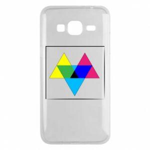 Etui na Samsung J3 2016 Kolorowe trójkąty