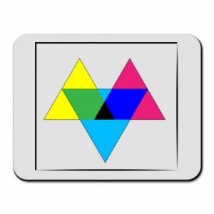 Mouse pad Colored triangles