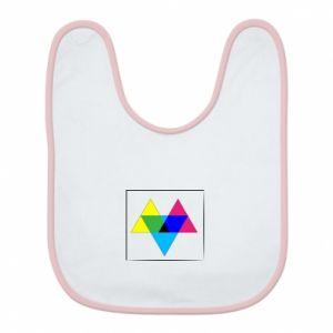 Śliniak Kolorowe trójkąty