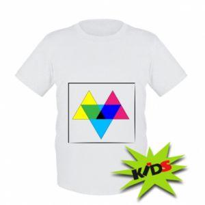 Dziecięcy T-shirt Kolorowe trójkąty