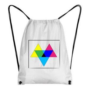 Plecak-worek Kolorowe trójkąty