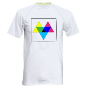 Men's sports t-shirt Colored triangles