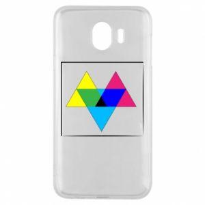 Etui na Samsung J4 Kolorowe trójkąty