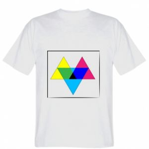 T-shirt Colored triangles