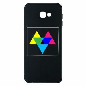 Etui na Samsung J4 Plus 2018 Kolorowe trójkąty