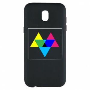 Etui na Samsung J5 2017 Kolorowe trójkąty