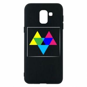 Etui na Samsung J6 Kolorowe trójkąty