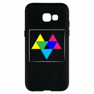 Etui na Samsung A5 2017 Kolorowe trójkąty
