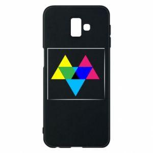 Etui na Samsung J6 Plus 2018 Kolorowe trójkąty