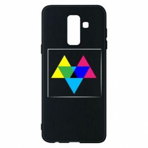 Etui na Samsung A6+ 2018 Kolorowe trójkąty