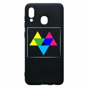 Etui na Samsung A20 Kolorowe trójkąty