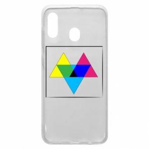 Etui na Samsung A30 Kolorowe trójkąty