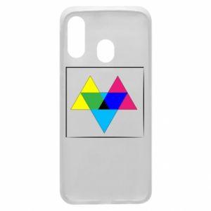Etui na Samsung A40 Kolorowe trójkąty