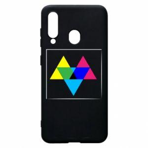 Etui na Samsung A60 Kolorowe trójkąty