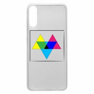 Etui na Samsung A70 Kolorowe trójkąty