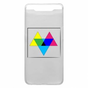 Phone case for Samsung A80 Colored triangles