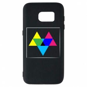 Etui na Samsung S7 Kolorowe trójkąty