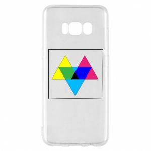 Etui na Samsung S8 Kolorowe trójkąty
