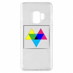 Etui na Samsung S9 Kolorowe trójkąty