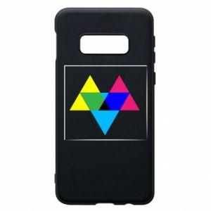 Etui na Samsung S10e Kolorowe trójkąty