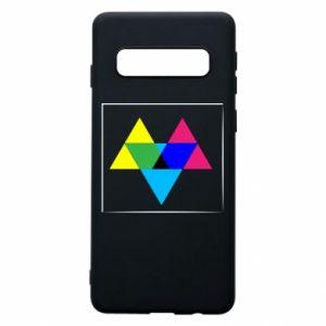 Etui na Samsung S10 Kolorowe trójkąty