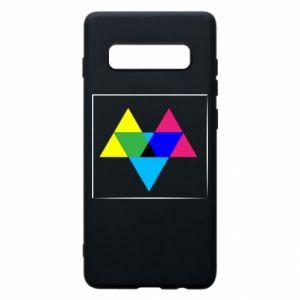 Etui na Samsung S10+ Kolorowe trójkąty