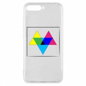 Etui na Huawei Y6 2018 Kolorowe trójkąty