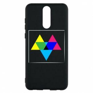 Etui na Huawei Mate 10 Lite Kolorowe trójkąty