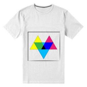 Męska premium koszulka Kolorowe trójkąty