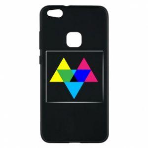 Etui na Huawei P10 Lite Kolorowe trójkąty