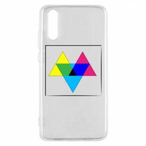Etui na Huawei P20 Kolorowe trójkąty