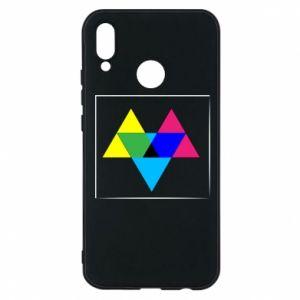 Etui na Huawei P20 Lite Kolorowe trójkąty
