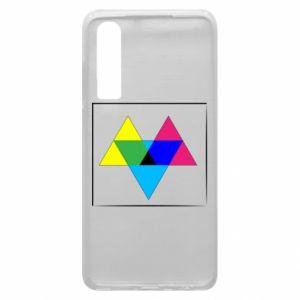 Etui na Huawei P30 Kolorowe trójkąty