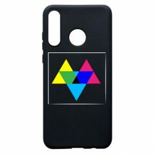 Etui na Huawei P30 Lite Kolorowe trójkąty